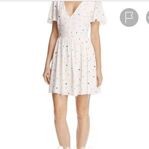 Rebecca Minkoff paper airplane print dress